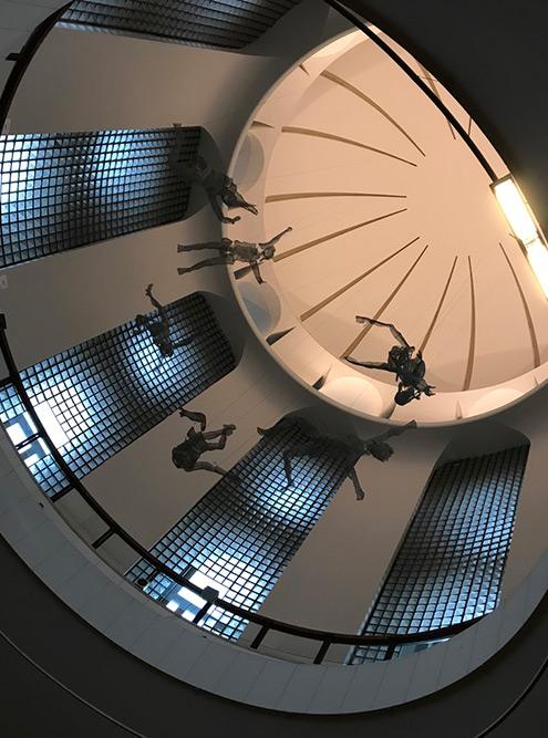 Экспонаты в галерее распределены по этажам в соответствии с эпохой: от древних предметов искусства на нижнем этаже до современных инсталляций на самом верху