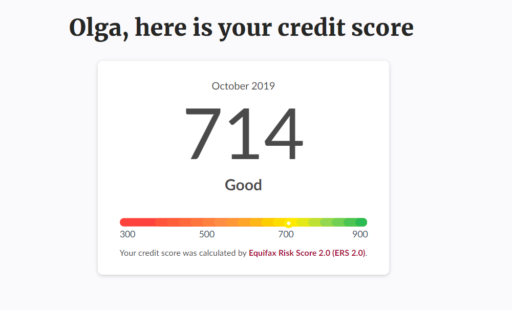Мой кредитный рейтинг на Borrowell
