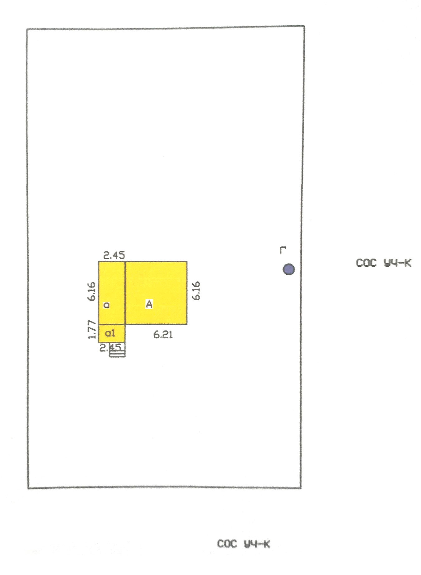Это план дома на участке. Квадрат с буквой А — жилая зона с печкой. Слева — коридор и склад, они пока не отапливаются