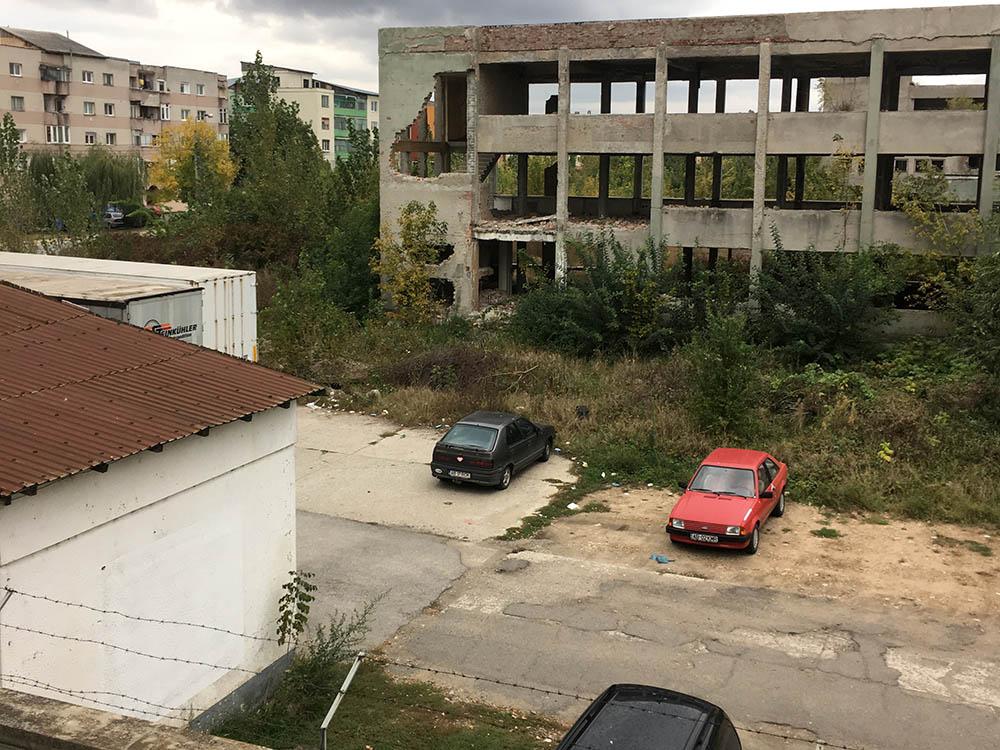 Вид из окна гостиницы в Румынии
