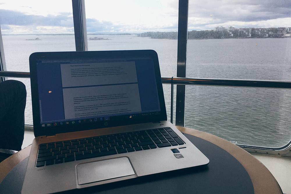 На паромах можно и поработать. Эту статью я начала писать где-то в море между Таллином и Хельсинки