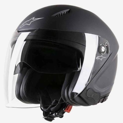 В отличие от интеграла, в открытом шлеме нет подбородочной части. Это удобно, но небезопасно: по статистике, больше трети ударов припадении приходятся на подбородок. Такие шлемы припрочих равных дешевле интегралов. Этот открытый шлем Alpinestars Novus стоит 13 400 рублей