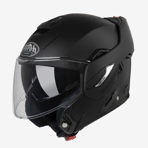 Шлем-модуляр — это компромисс между закрытым и открытым шлемом. Его подбородочная часть откидывается наверх, и шлем превращается из закрытого в открытый. Звучит хорошо, но говорят, что такие шлемы тяжелее и не так безопасны, как обычные закрытые шлемы. Припрочих равных модуляры дороже остальных шлемов. Этот Airoh Rev 19 стоит 18 800 рублей