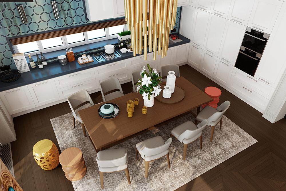Современный дизайн трехэтажного дома на 430 м² в поселке «Бристоль»