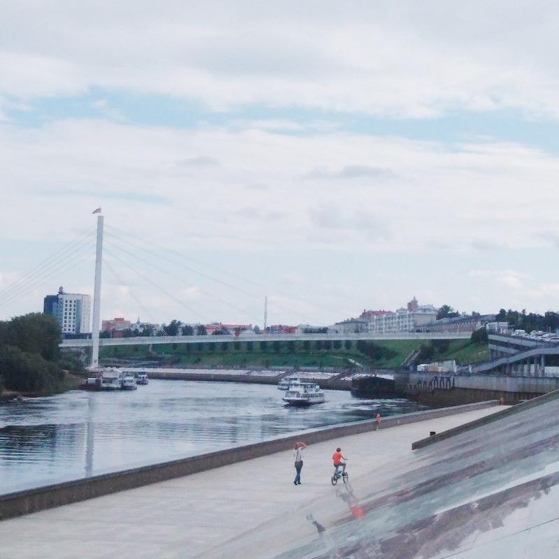 Вид на набережную недалеко от Моста влюбленных