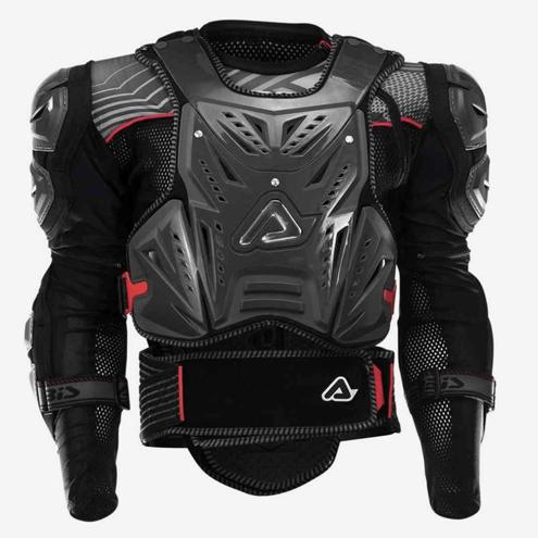 У меня моточерепаха Acerbis Cosmo 2.0, сейчас ее можно купить за 9950рублей. Я выбрал именно эту черепаху из-за возможности носить жилет отдельно от защиты рук
