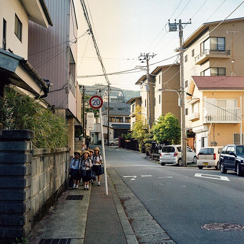 Город Хаконе недалеко от горы Фудзи