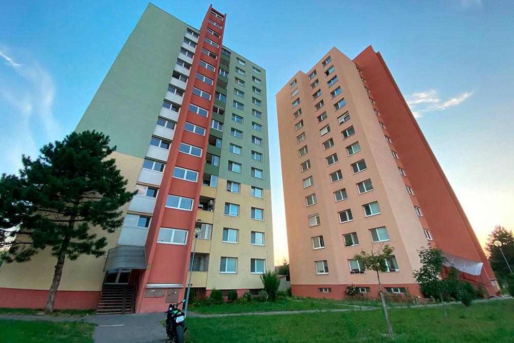 Реновированные многоэтажки в Братиславе