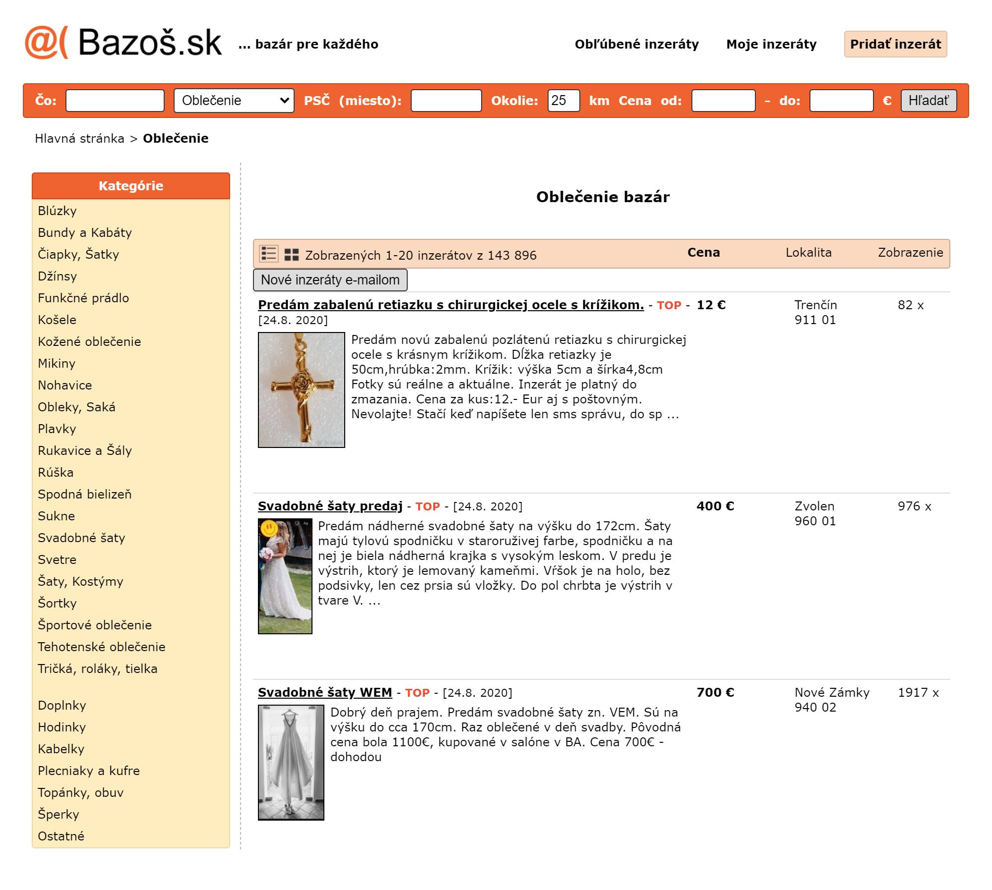 Если нужно купить или продать что-то подержанное, словаки идут на bazos.sk — это аналог «Авито»