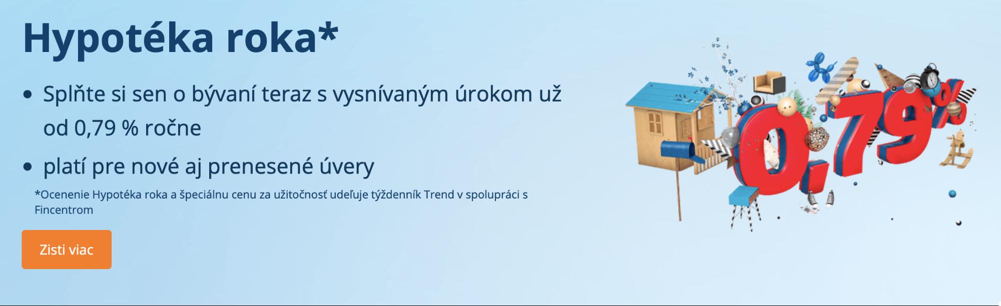 Предложение по ипотеке в Словацком сберегательном банке
