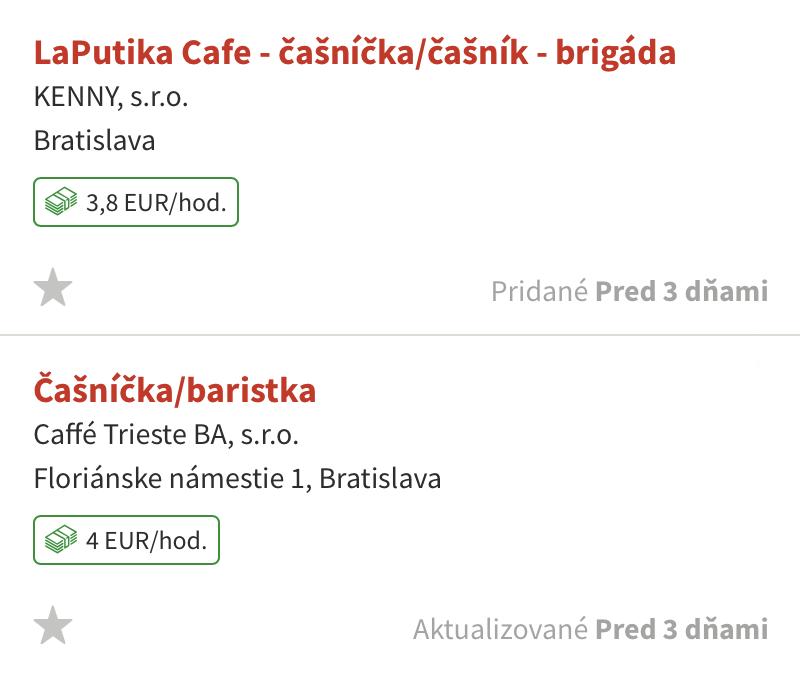 Зарплата официанта — 4€ в час