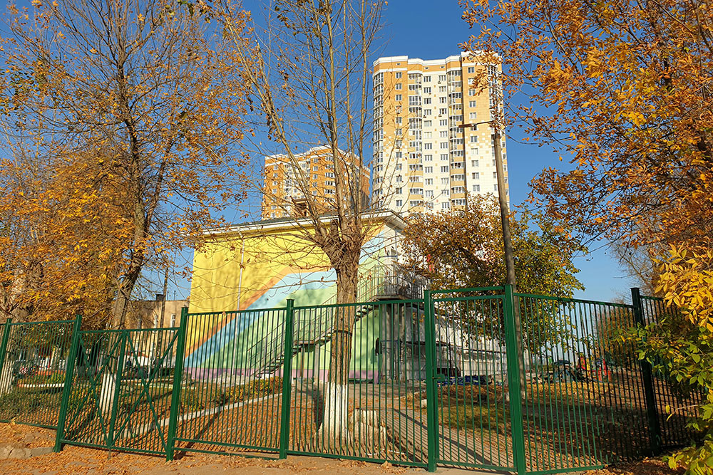 Детский сад иЖК«Олимп» — район ХБК. Пока этосамая высокая точка в городе