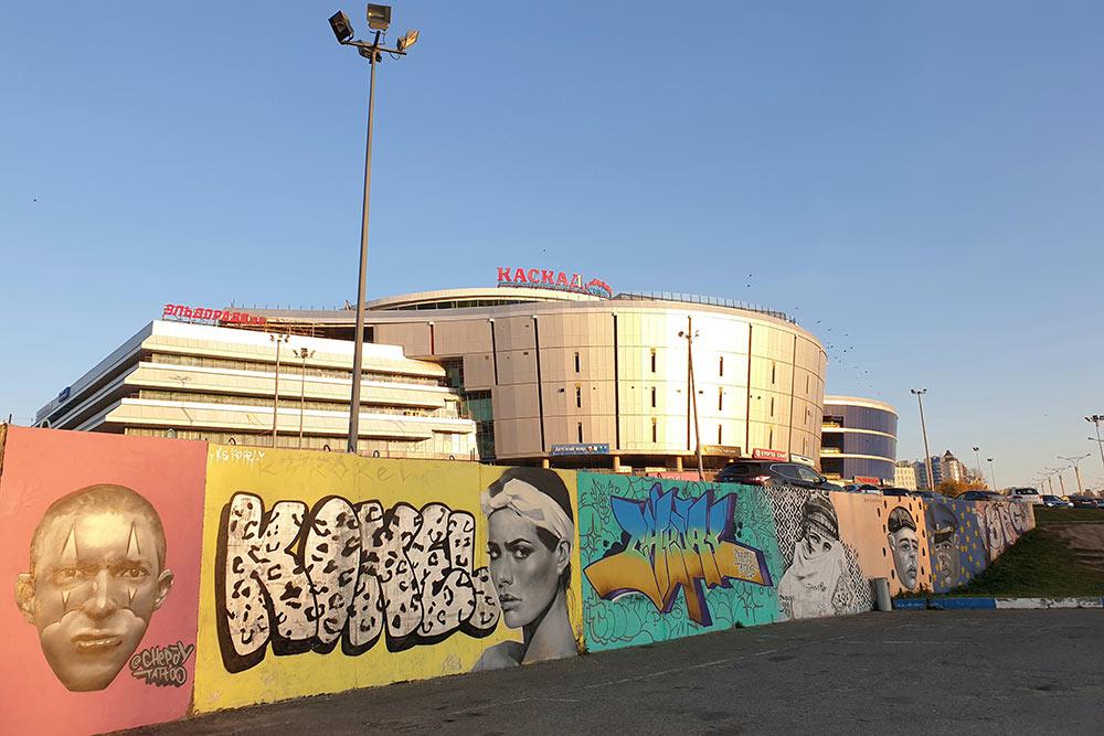 Чувашский стрит-арт на парковке торгового центра «Каскад»