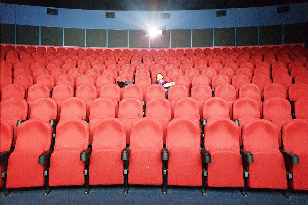 Один из залов кинотеатра «Волжский» — снято задень досамоизоляции вапреле 2020года