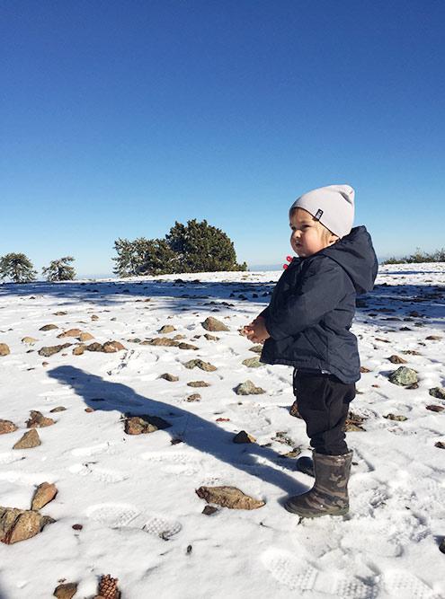 А в середине декабря в горах уже лежит снег