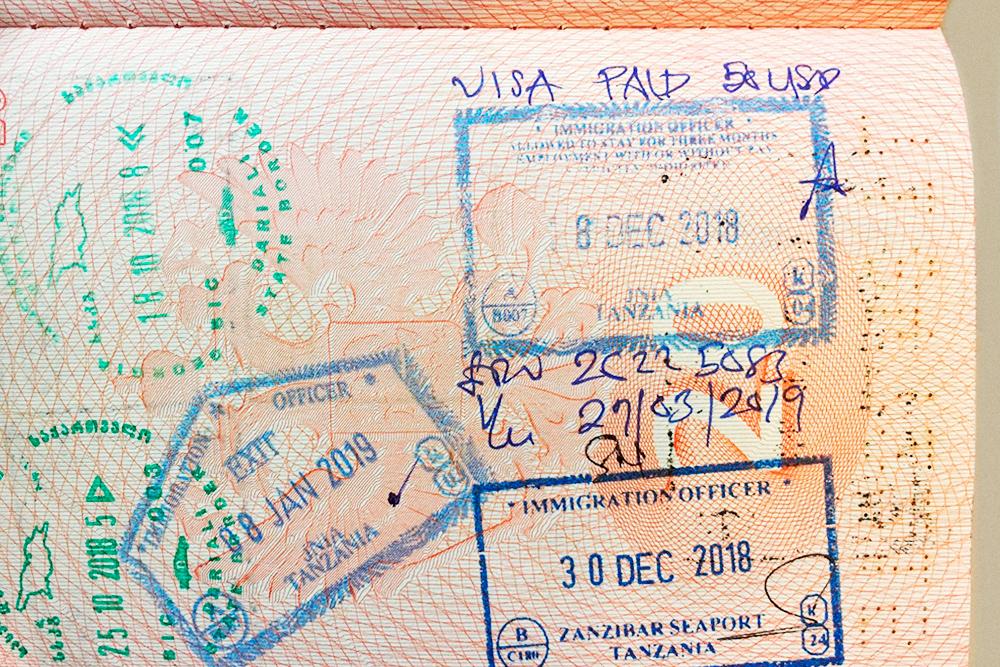 По туристической визе в стране можно находиться до 90 дней. Под штампом написан срок пребывания