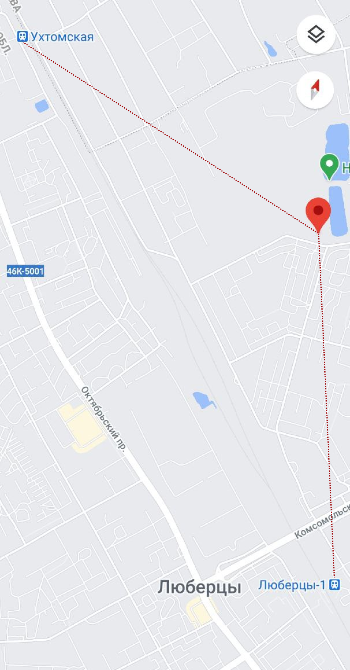 От моего дома до Ухтомской и Люберец-1 одинаковое расстояние. Но Ухтомская ближе к Москве, поэтому мой муж ходит до нее