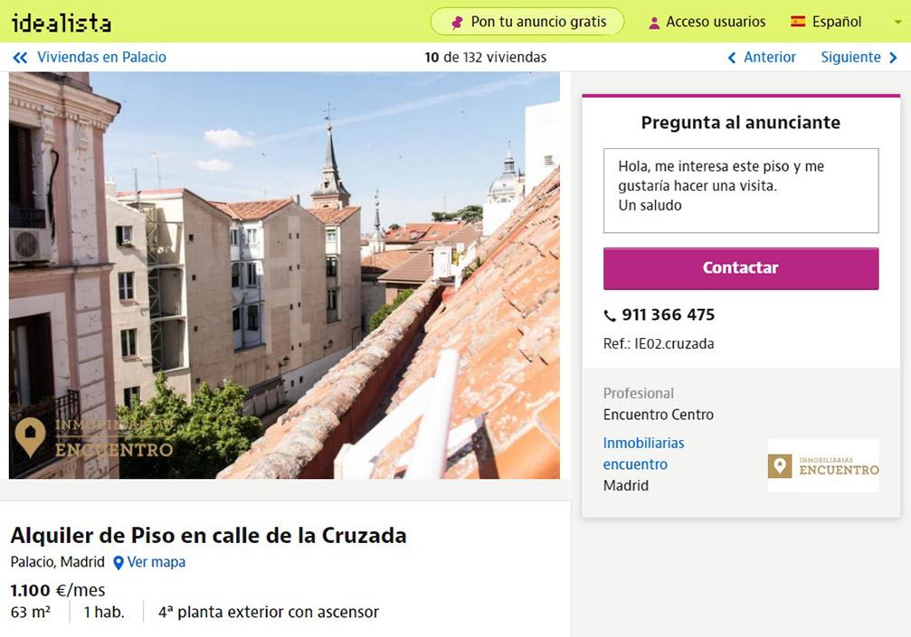 Мансарду с одной спальней и видом на крыши окрестностей королевского дворца сдают за 1100€ в месяц