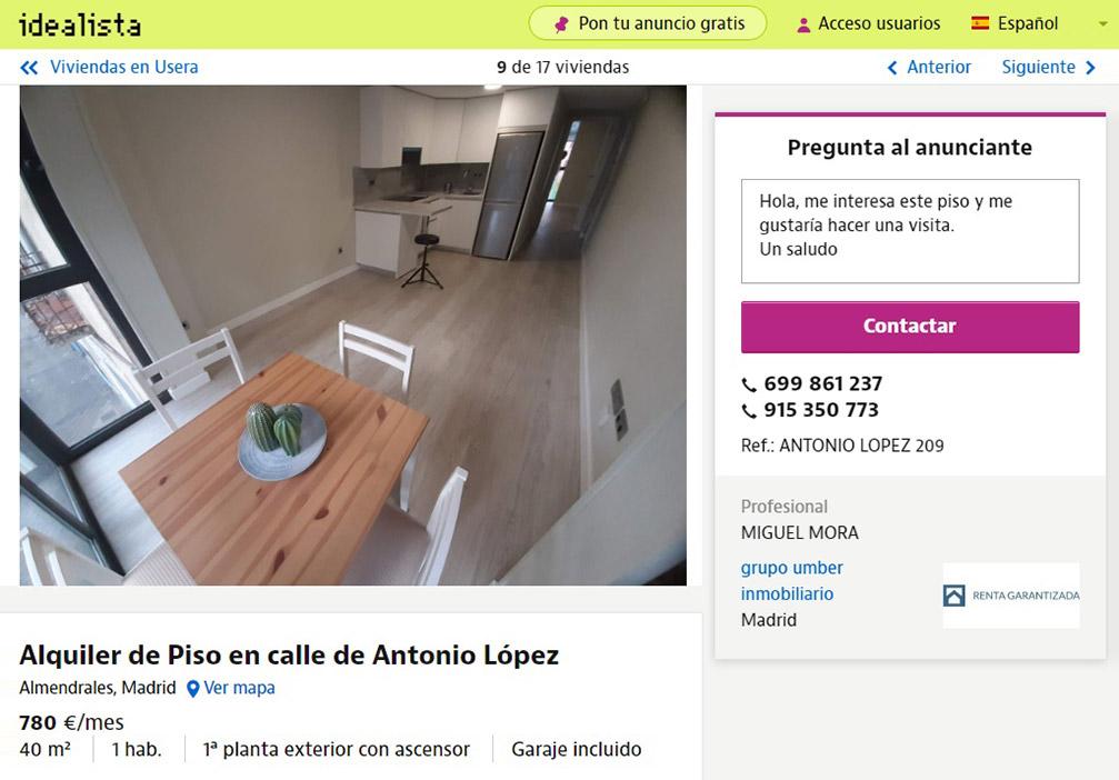 Похожую квартиру в спальном районе с поэтичным названием Усера можно снять за 780€