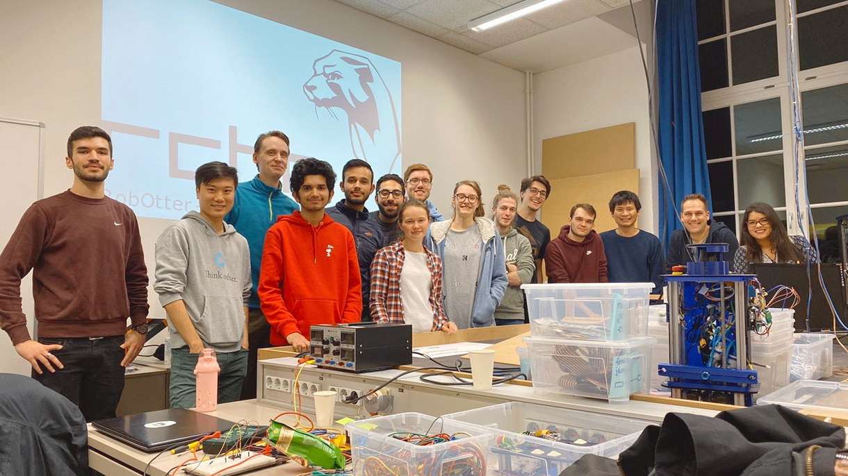 Я учусь в Гамбурге на инженера-программиста