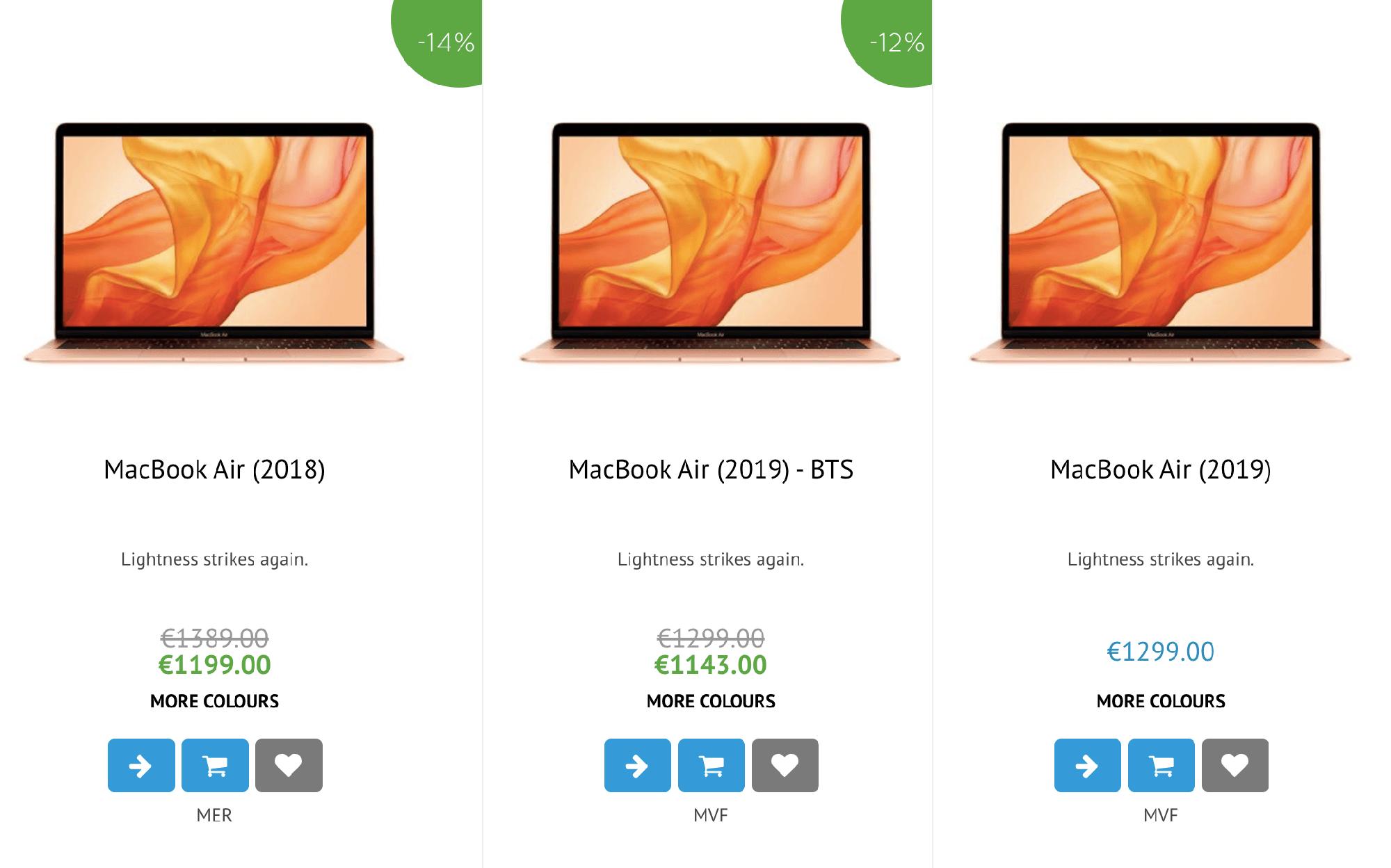 Цены на Макбуки в мальтийском iCentre