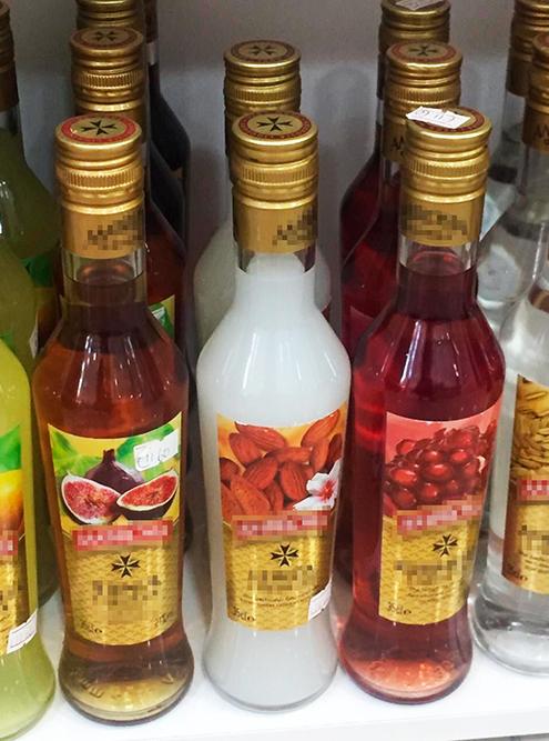 Мальтийские ликеры стоят 12—15€ за литр