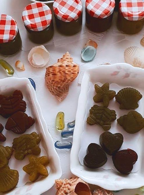Первые образцы мармелада и желейных конфет