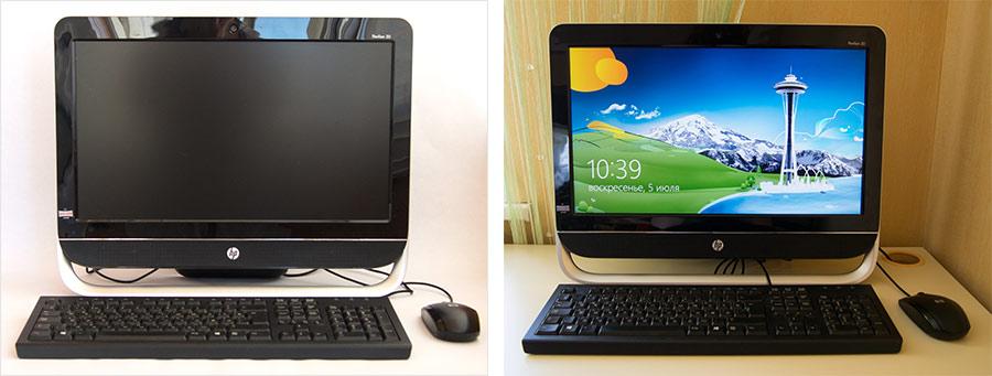 Компьютер с включенным монитором с яркой заставкой привлечет больше внимания, чем черный прямоугольник