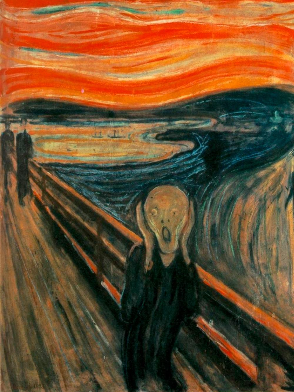 У Мунка четыре версии этой картины. Главная висит в Национальной галерее Осло, которая закрыта до января 2020 года. В Музее Мунка выставлены две другие. Источник: Национальная галерея в Осло