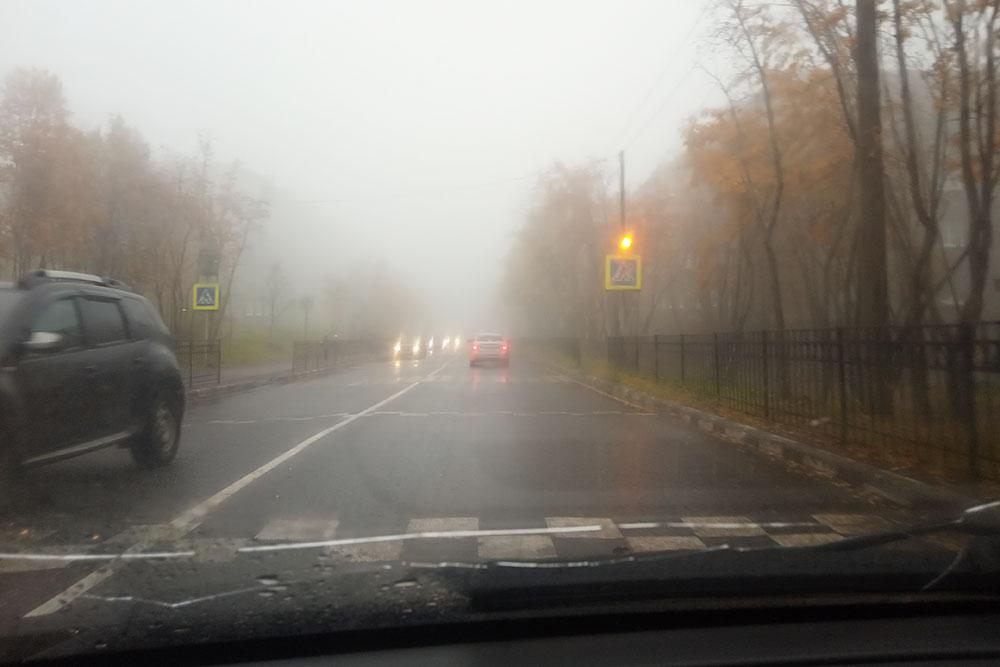 На севере Мурманска туман