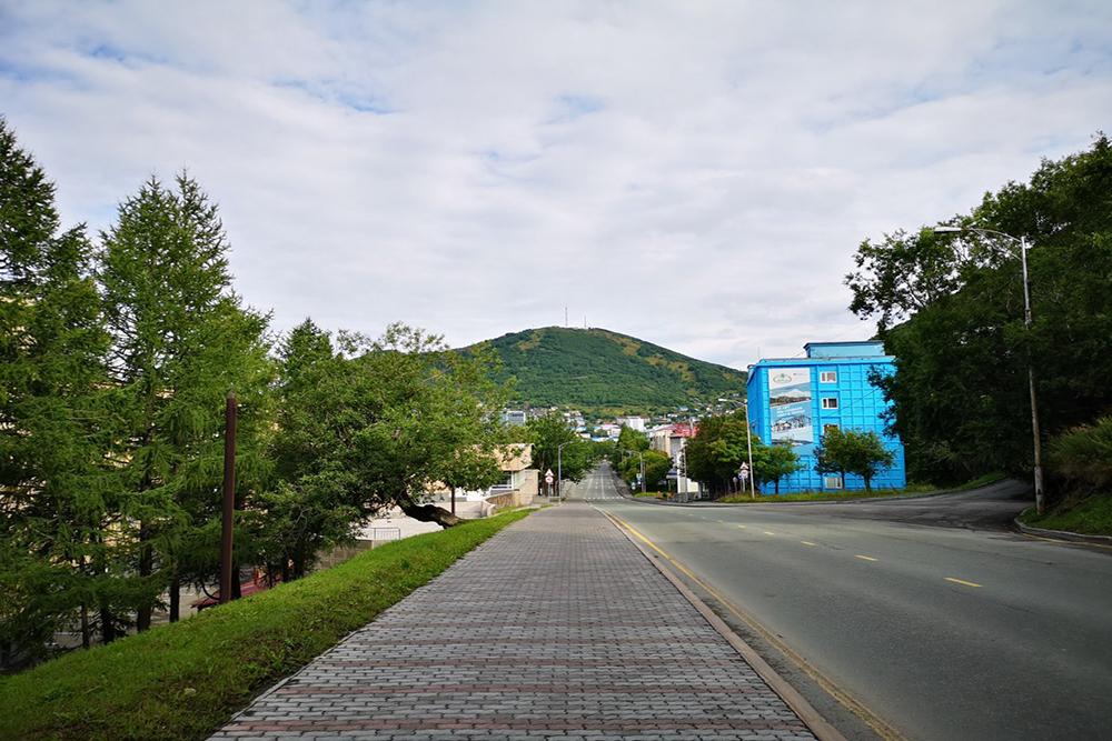 Сопка Мишенная в Петропавловске-Камчатском