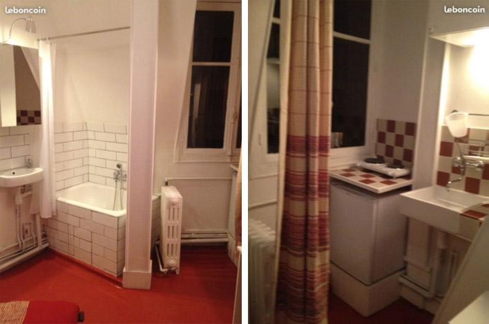 Студия за 500€, туалет в коридоре