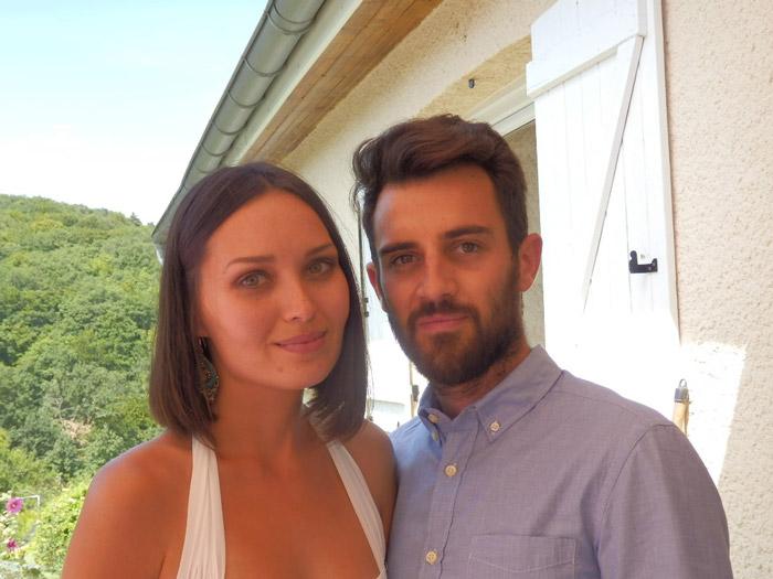 Мы с Николя в день свадьбы