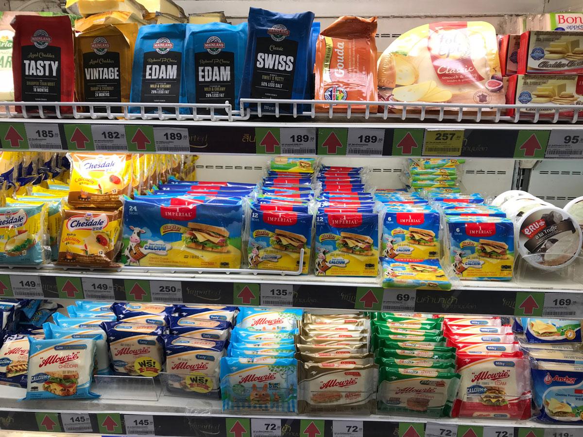 Сыр в Таиланде дорогой
