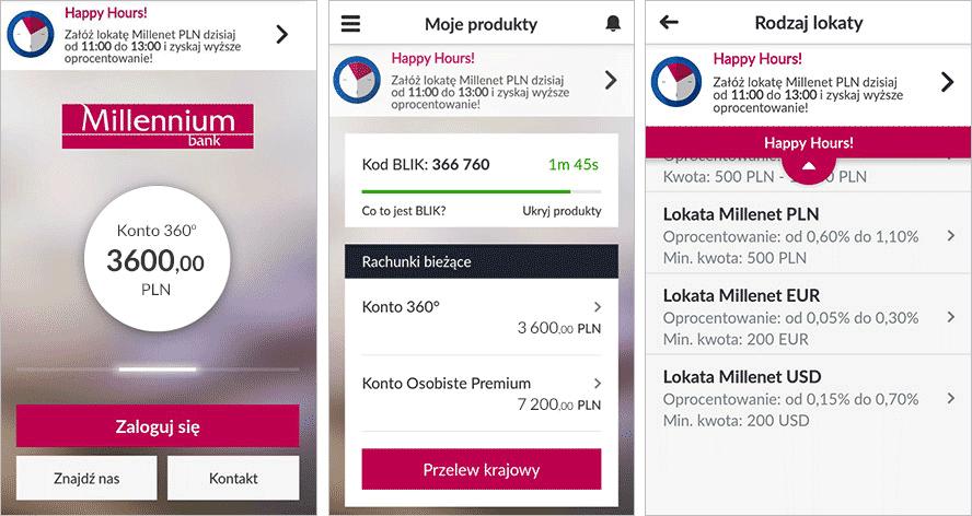 Интерфейс мобильного приложения банка «Миллениум». Источник: Bankmillennium.pl