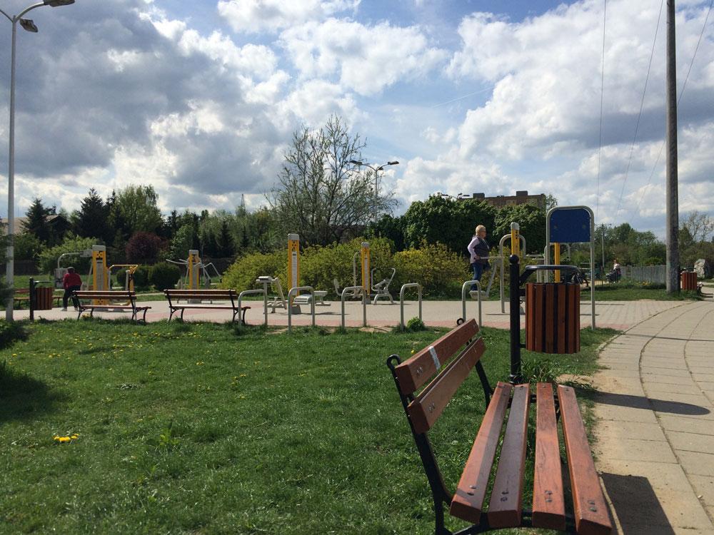 Спортивная площадка в парке