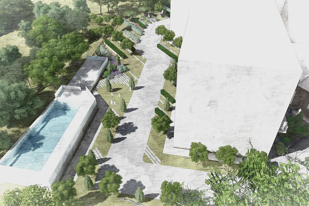 Визуализации для отеля Green Flow на «Розе Хутор»