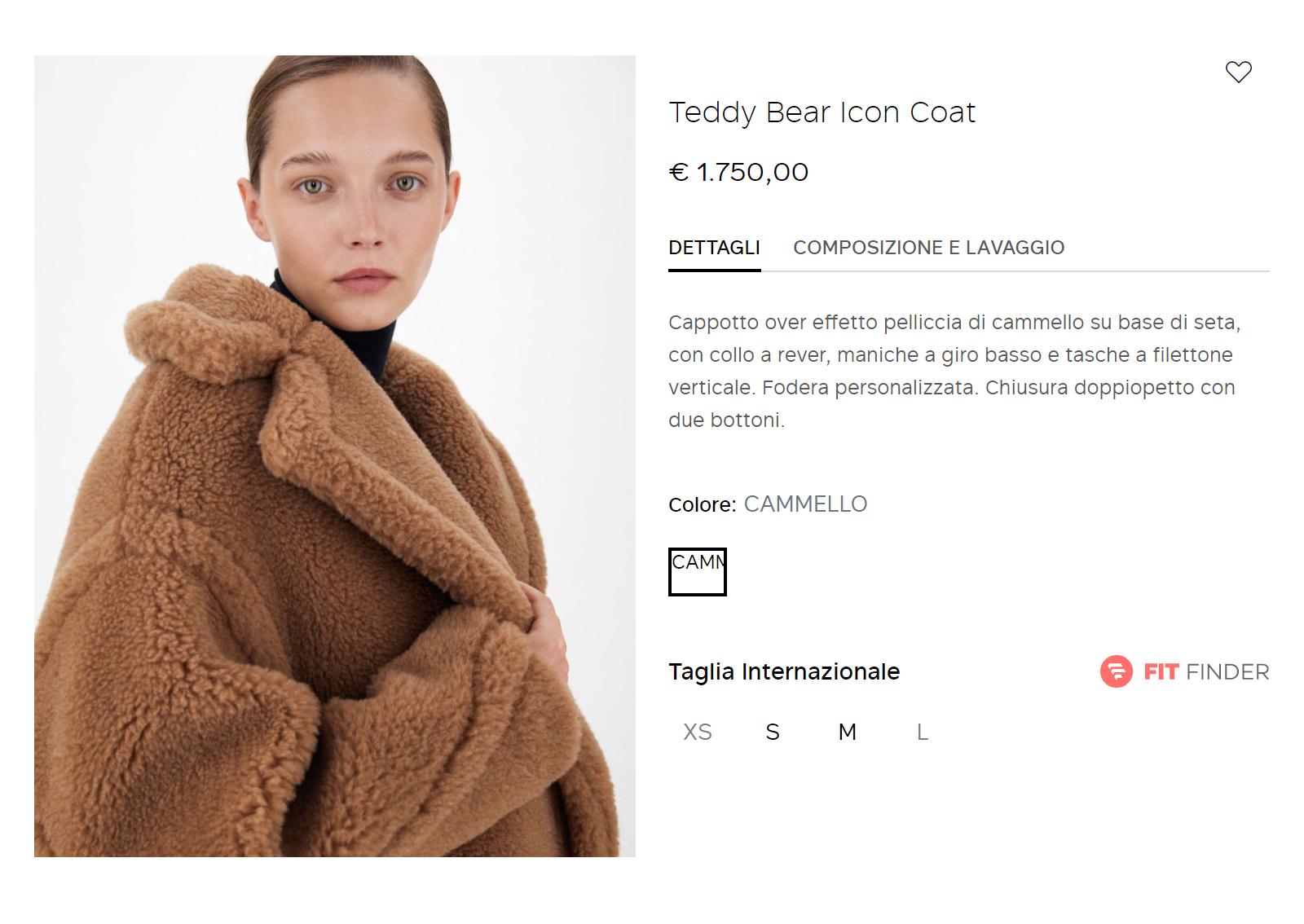 Такая&nbsp;же шуба на итальянском сайте Max Mara стоит 1750€ (159 741<span class=ruble>Р</span>). Источник: it.maxmara.com