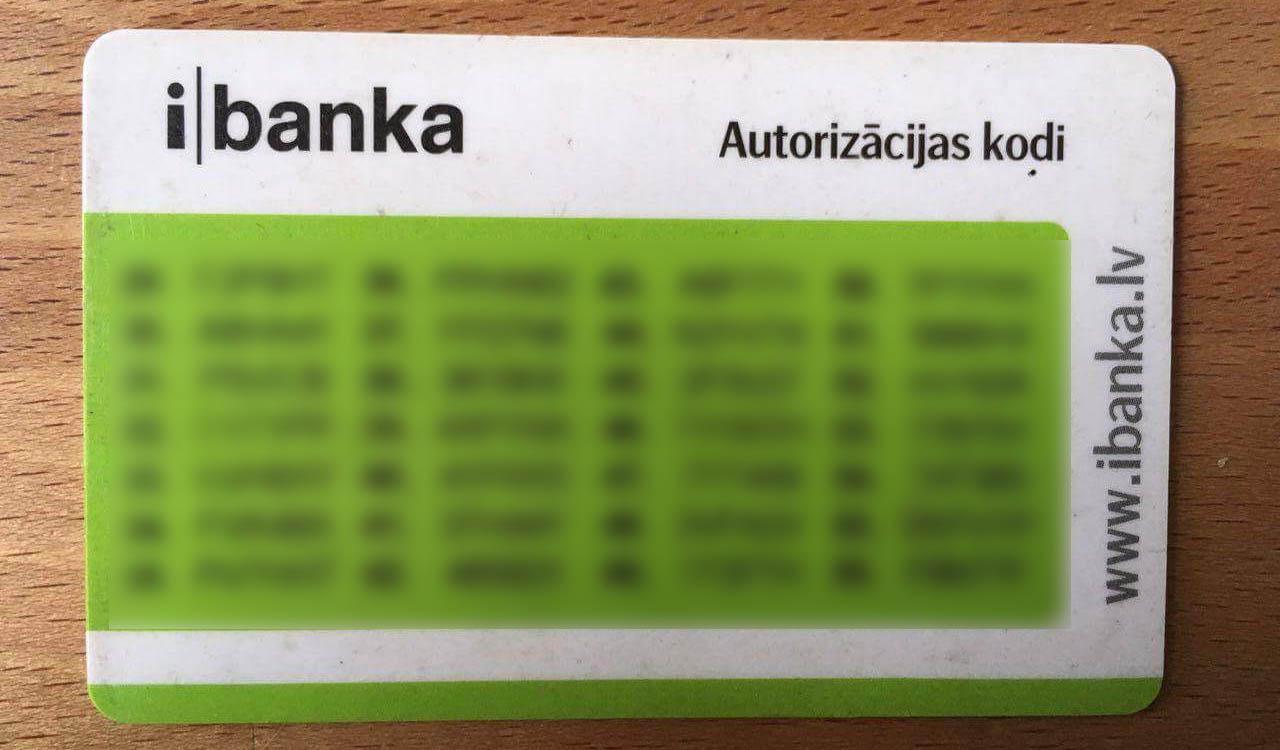 Скретч-карта с одноразовыми паролями