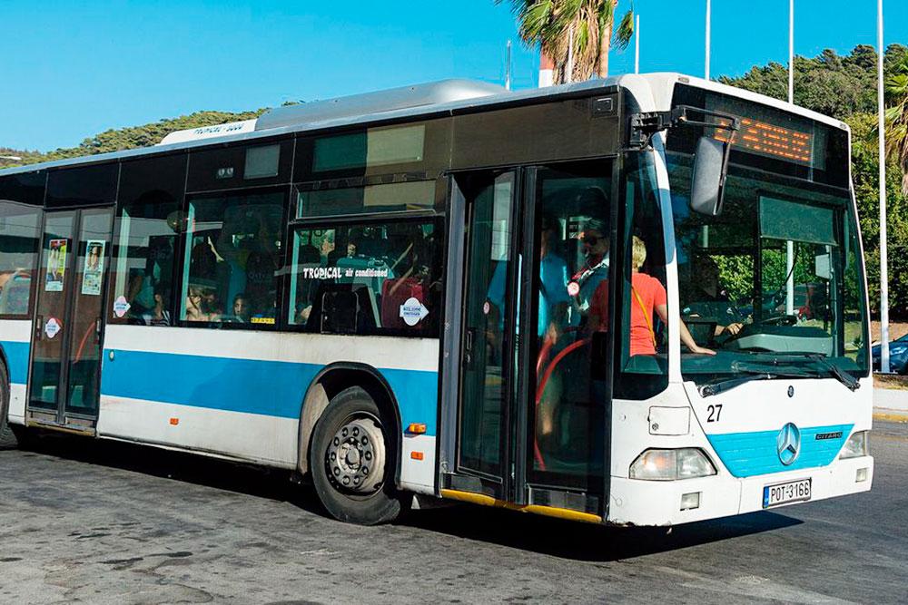 На автобусе из аэропорта до Родоса вы доедете за 40 минут