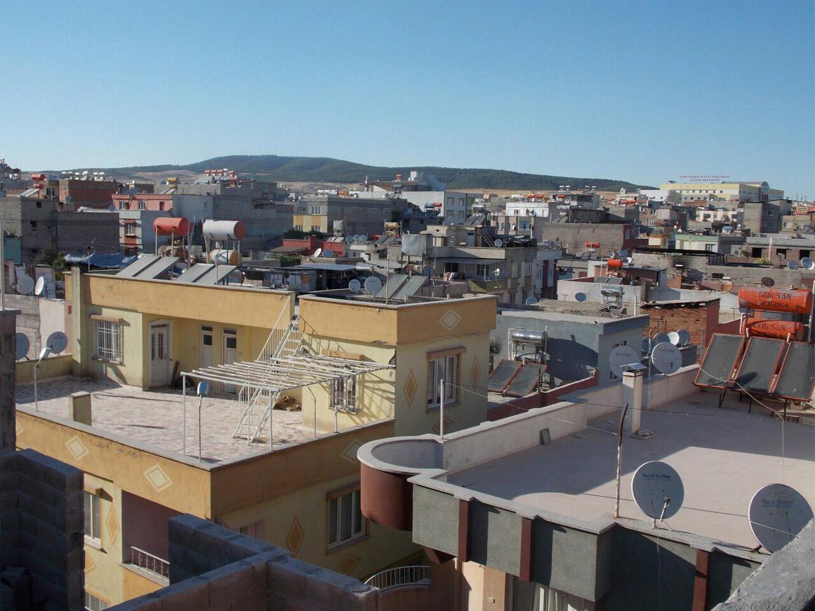 Вид на крыши Газиантепа