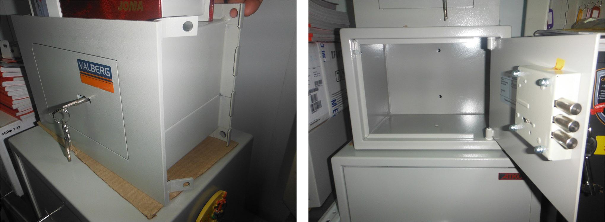 Легкий сейф, который могут унести, надо прикрутить к полу или стене. На нем должны быть крепления для привязки к строительной арматуре или специальные отверстия для анкерных болтов
