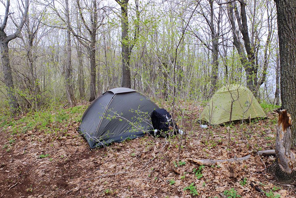 А вот палатки внекемпинга — за такое могут оштрафовать