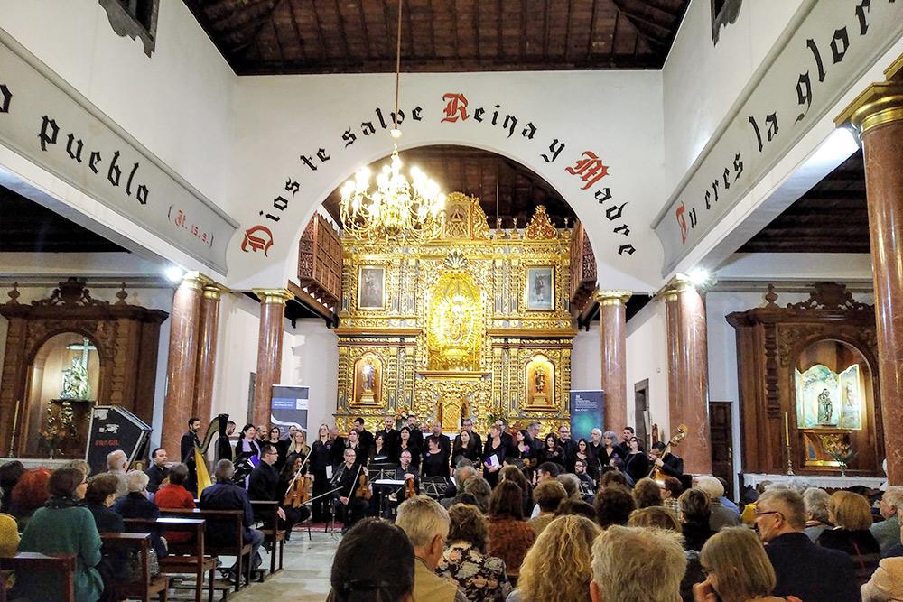 На концерте хоровой музыки в соседнем городе