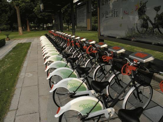 Уличный пункт проката велосипедов. Фото с сайта {money.ycwb.com}(http://money.ycwb.com)