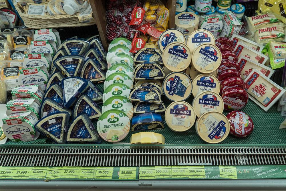 Импортный сыр — 300 000 рупий (1260 р.) за 250 г
