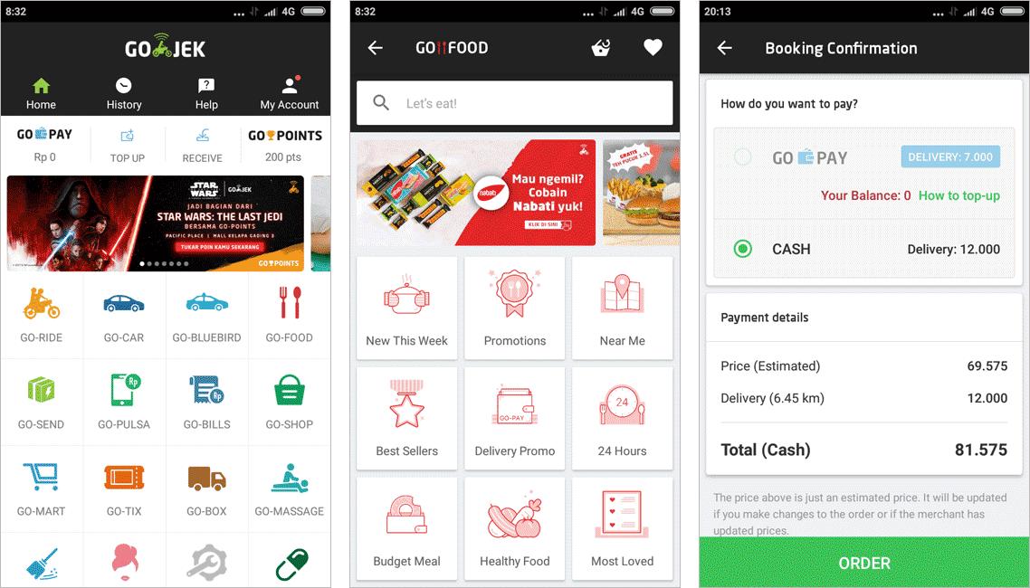В приложении «Го-джек» можно заказать доставку еды, уборку дома и даже массаж