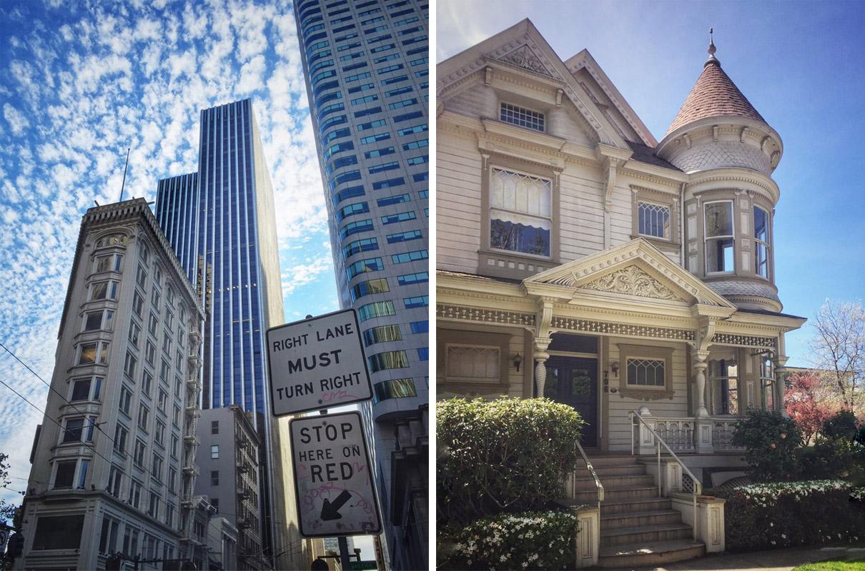 В Сан-Франциско есть и небоскребы, и викторианские дома