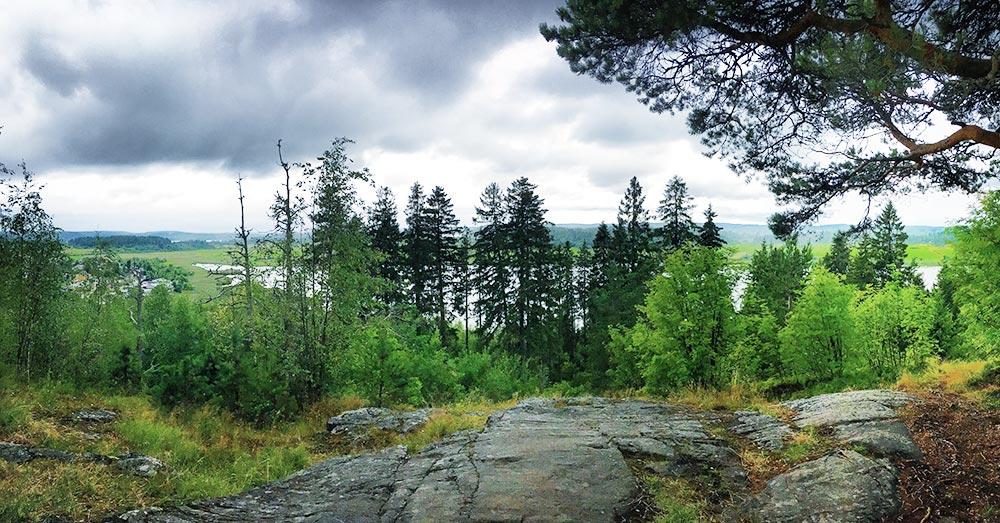 С другой стороны горы только лес и маленькое озеро Айранне — кажется, что ты где-то вдали от цивилизации. Можно сидеть на лавке и смотреть на качающиеся ели