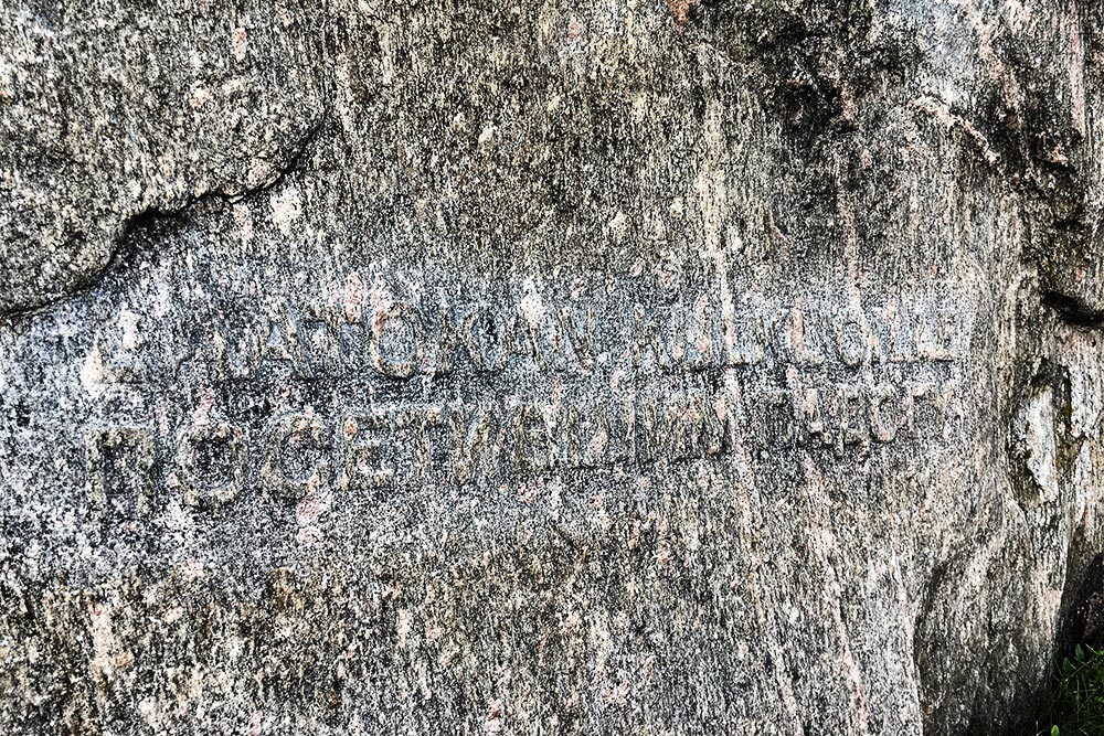 Накамне есть малозаметная надпись «Покорителям Ладоги». Если вернетесь сюда после прогулки поЛадожским шхерам, этот камень будет немного посвящен ивам